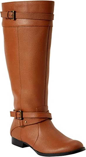 Janis Wide Calf Leather Boot