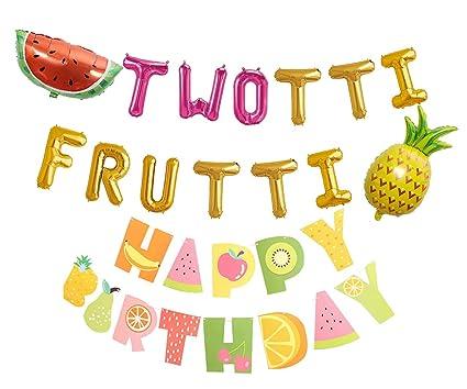 Amazon.com: Twotti Frutti - Globos de letras de cumpleaños ...