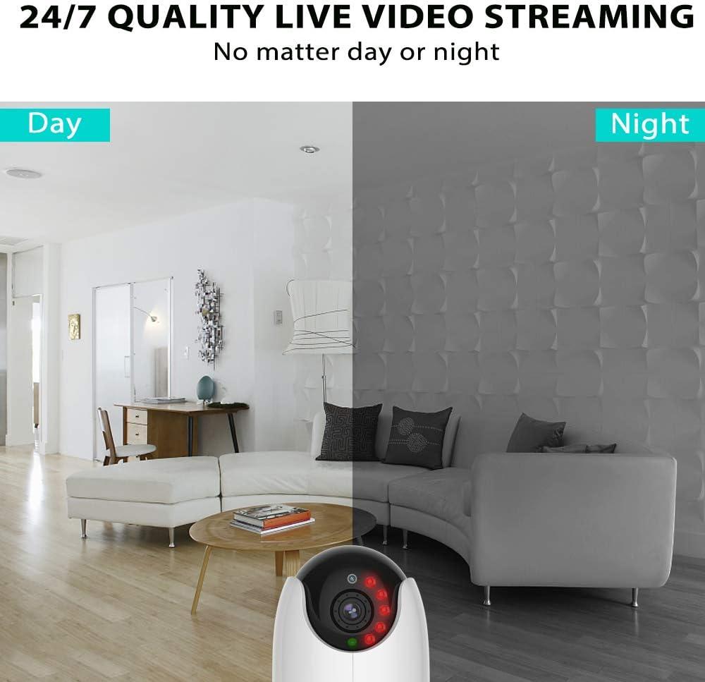 Netvue 1080P WiFi Caméra De Sécurité Bébé Moniteur Vision Nuit fonctionne avec Alexa NEUF