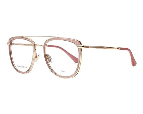 bf64ff596014 Jimmy Choo - Monture de lunettes - Femme Rose Nude 52  Amazon.fr ...