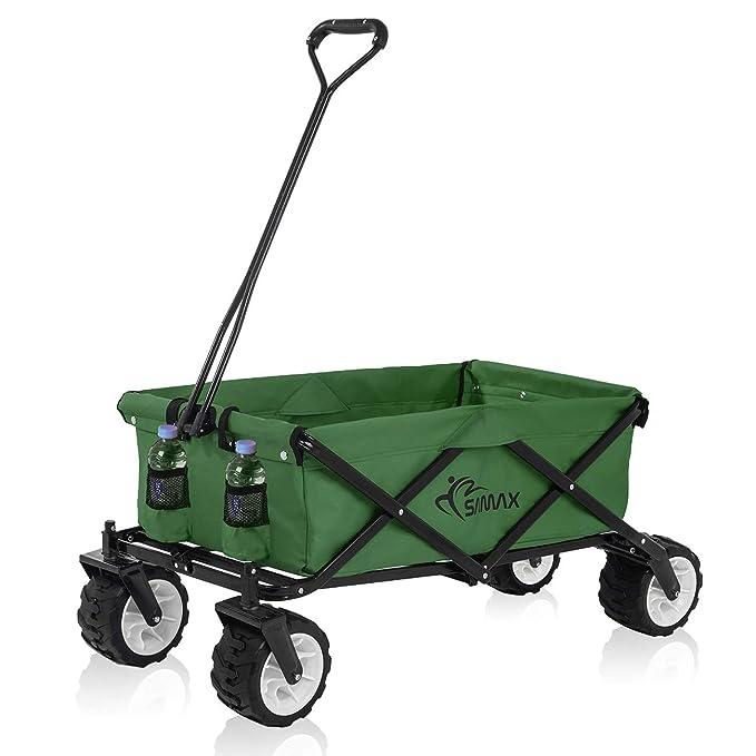 Samax - Carrito de transporte de mano todoterreno, verde, diferentes versiones: Amazon.es: Bricolaje y herramientas