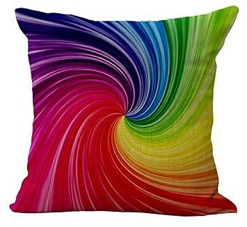 Amazon.com: Andreannie - Funda de cojín de lino y algodón ...