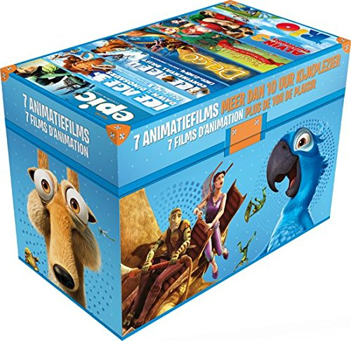 Animation Films 7-DVD Boxset ( Epic / Ice Age: Dawn of the Dinosaurs / Ice Age: Continental Drift / Delgo / FernGully 2: The Magical Rescue / Alvin [ NON-USA FORMAT, PAL, Reg.2 Import - Netherlands ] by Fox