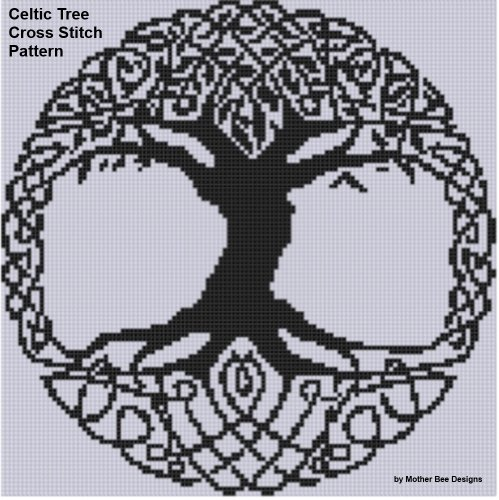 Celtic Tree Cross Stitch Pattern Celtic Cross Stitch Pattern