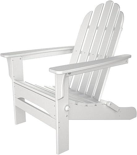 Table in a Bag WPADIR Folding Poly Plastic Adirondack Chair, White
