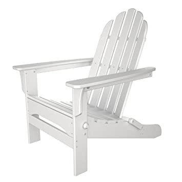 Table In A Bag WPADIR Folding Poly Plastic Adirondack Chair, White