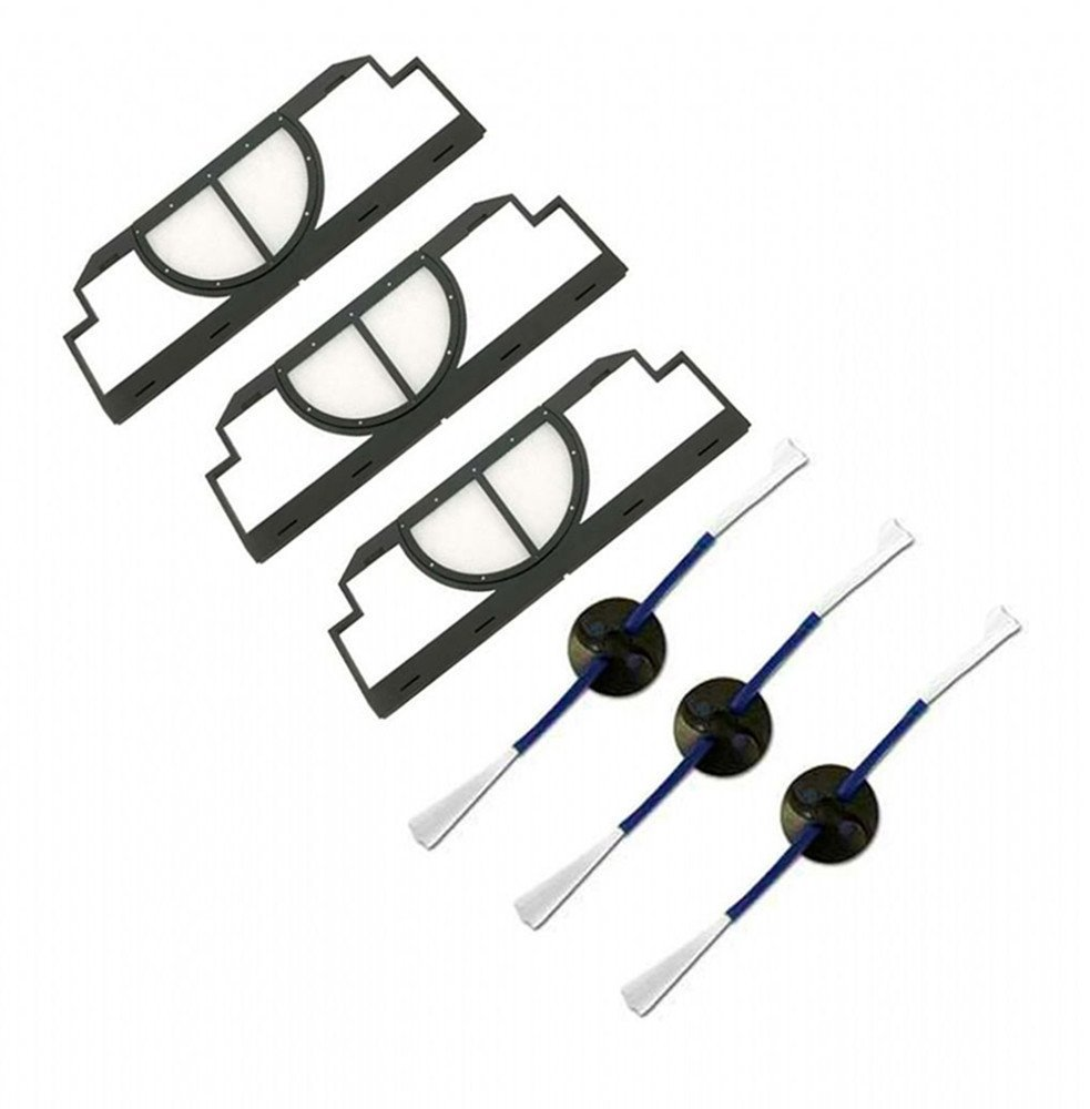FirstDecor Accessories for irobot roomba 400 Vacuum Cleaner, kit includes 3 pack side brush and filter CLGHN-C01
