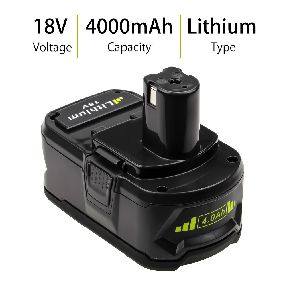 2 Pack P108 4.0Ah Replace for Ryobi 18V Battery ONE+ P102 P103 P104 P105 P107 P109 P122 Cordless Power Tools by Boetpcr (Image #2)