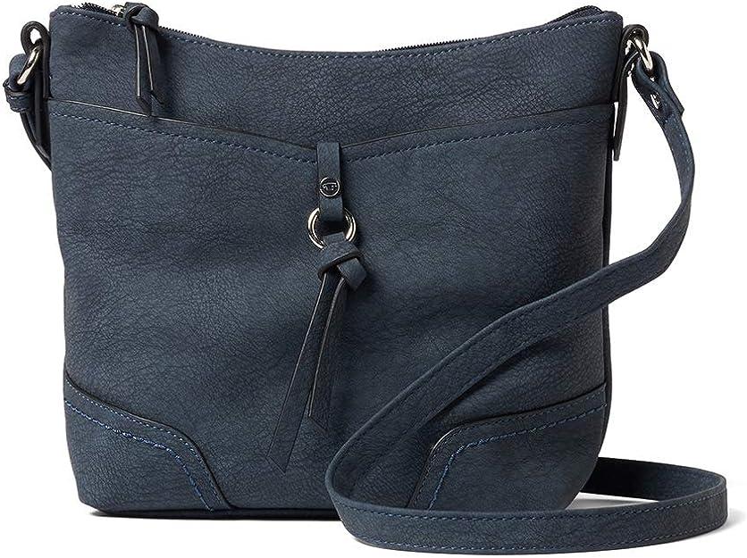 TOM TAILOR Umhängetasche Damen, Imeri, Blau, 28x25x8.5 cm, TOM TAILOR Taschen für Damen