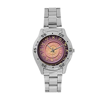 Amazon com: Astrology Men's Stainless Steel Analog Watch