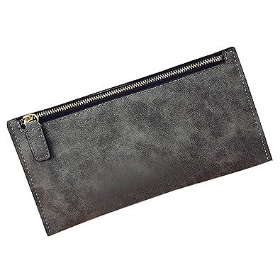 f770f17f3348 Amazon   OUYOU 財布 長財布 小銭入れ レディース メンズ 使いやすい 大容量 多機能 軽量 高級 安い PUレザー おしゃれ 人気  海外旅行 便利グッズ   財布