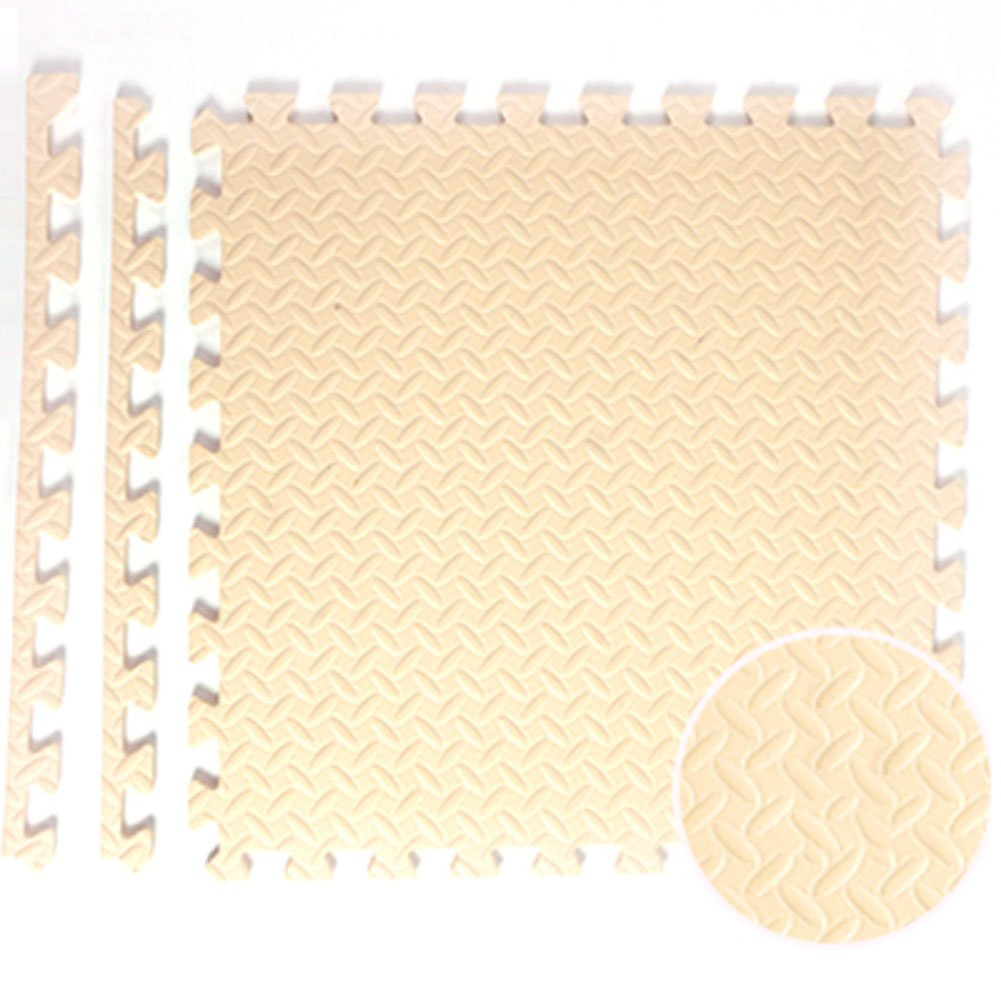 LJ&XJ Children foam mat,Splicing crawling mat anti slip area rugs tatami floor mat for bedroom living room bathroom baby room playroom nursery rugs-thick 2.5cm,8 pieces-D 2424inch