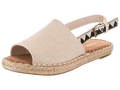 56eed9f264c11 Amazon.com | TOMS Women's Slub Chambray Clara Espadrille | Shoes