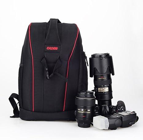 CADEN K7 Cámara de gran capacidad mochila fotografía profesional ...