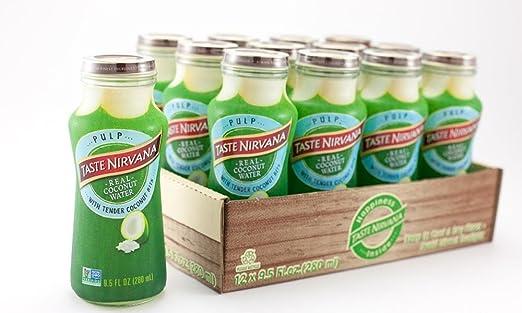 TASTE NIRVANA Real Coconut Water PULP - Premium Kokoswasser mit ...