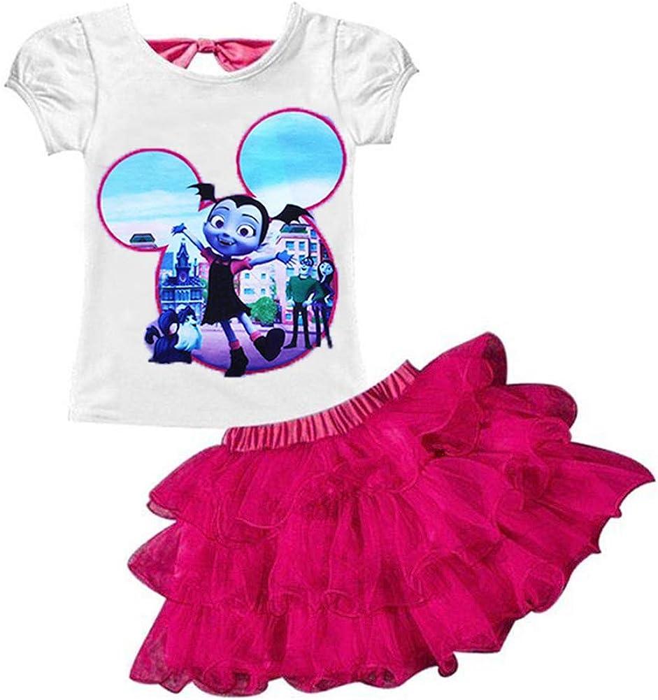 Amazon.com: AOVCLKID Vampirina Conjunto de camisa y falda de ...