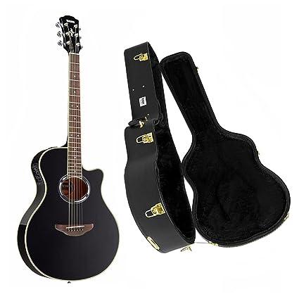 Yamaha apx500iii – Guitarra acústica/eléctrica Negro con Knox carcasa Funda