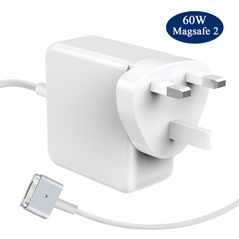 LIVEIMPEX Compatible para MacBook Pro Retina Cargador Apple A1425, A1435, A1502, Compatible para 60W MagSafe 2 Adaptador de Corriente con Conector ...
