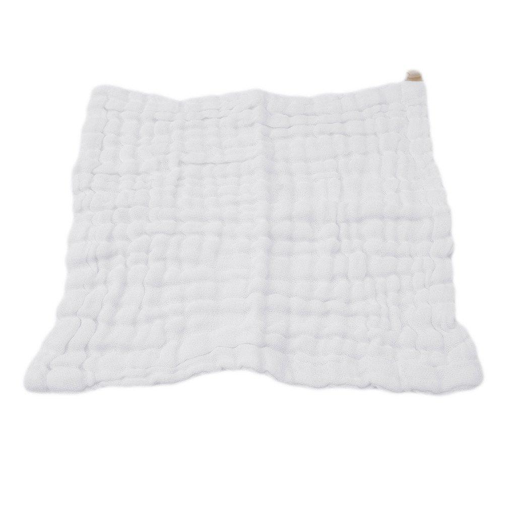 Lalang Baby Washcloths Bath Towels Muslin Towel Reusable Wipes Newborn Baby Soft Face Towels Green