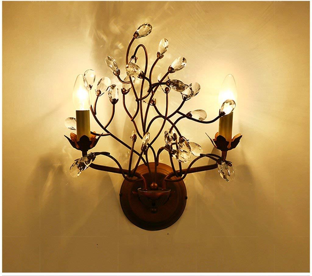Paese creativo ramo di albero Lampada da parete Craft retrò personalizzato Villa Bar Salotto corridoio di moda di illuminazione (colore   metallica)