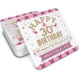 30th Birthday 1988 Keepsake Coaster For Women Coffee Or Tea Mug Gift