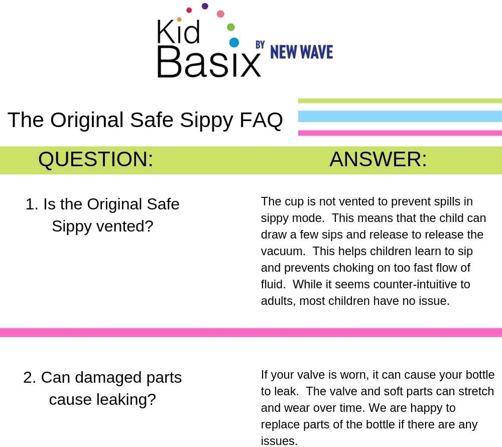 Kid Basix The Safe Sippy Stainless Steel Cup 11-Ounce Pink