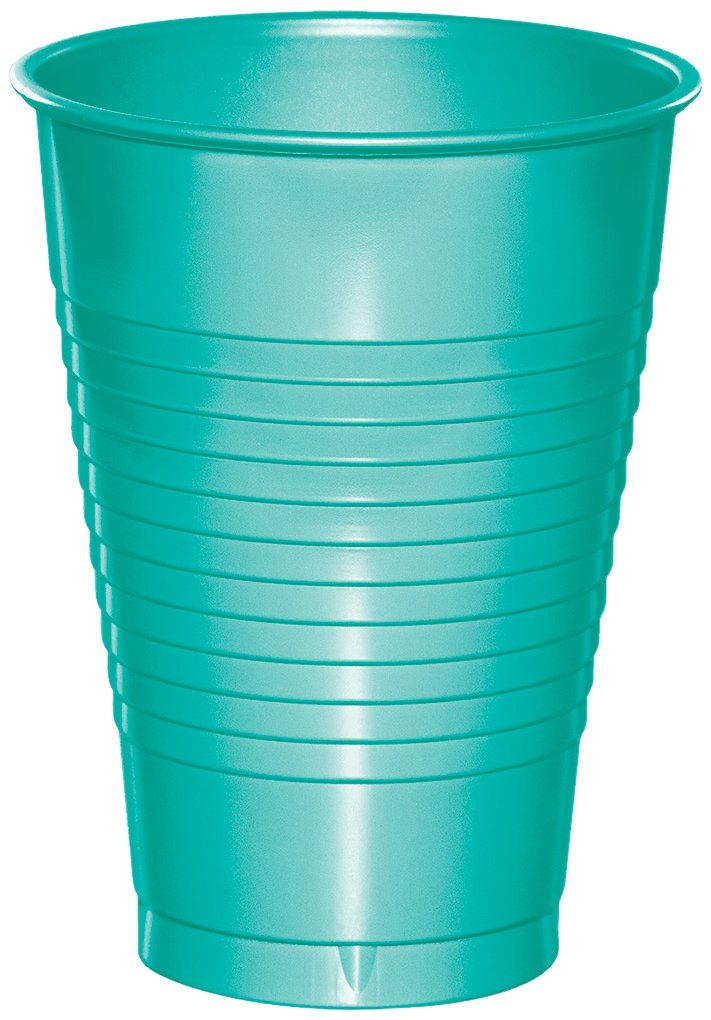 Creative Converting 324780 Touch of Color 240 Count 12 oz Plastic Cups, Teal Lagoon by Creative Converting (Image #1)
