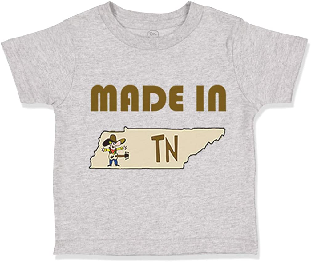 Custom Toddler T-Shirt Made in Tennessee Cotton Boy /& Girl Clothes