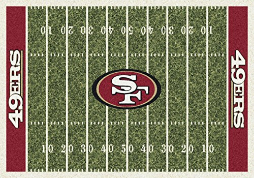 San Francisco 49ers NFL Team Home Field Area Rug by Milliken, 3'10