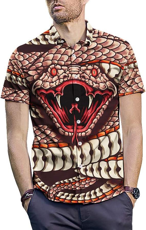 Camisas Hombre Camisas de impresión de Moda de Verano para Hombres Camiseta de Manga Corta Deportivas Casual Tops Blusa: Amazon.es: Ropa y accesorios