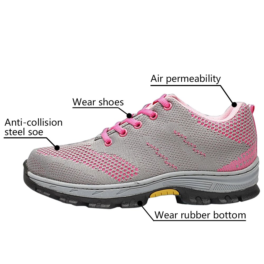 Optimal Women's Safety Shoes Work Shoes Protect Toe Shoes … by Optimal Product (Image #4)