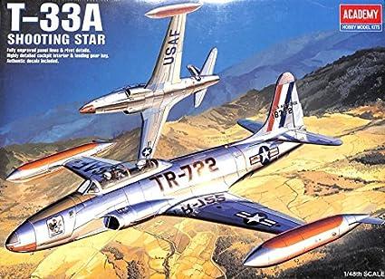 Amazon.com: Academy 1: 48 T-33 una estrella fugaz de ...