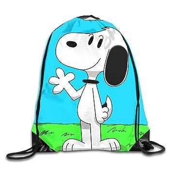 Meirdre Unisex Snoopy Deportes Cordón Mochila Gimnasio Bolsa: Amazon.es: Hogar