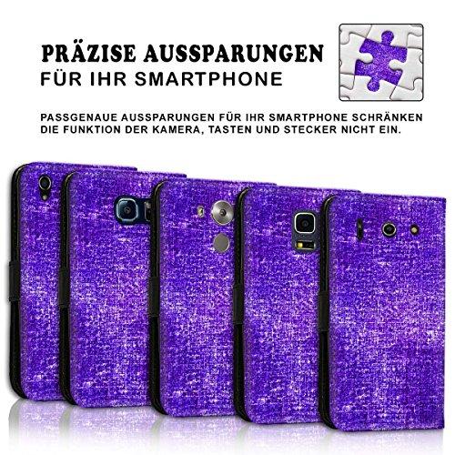 Wallet Book Style Flip Handy Tasche Case Schutz Hülle Schale Motiv Etui für Apple iPhone 4 / 4S - Design Flip MVD270