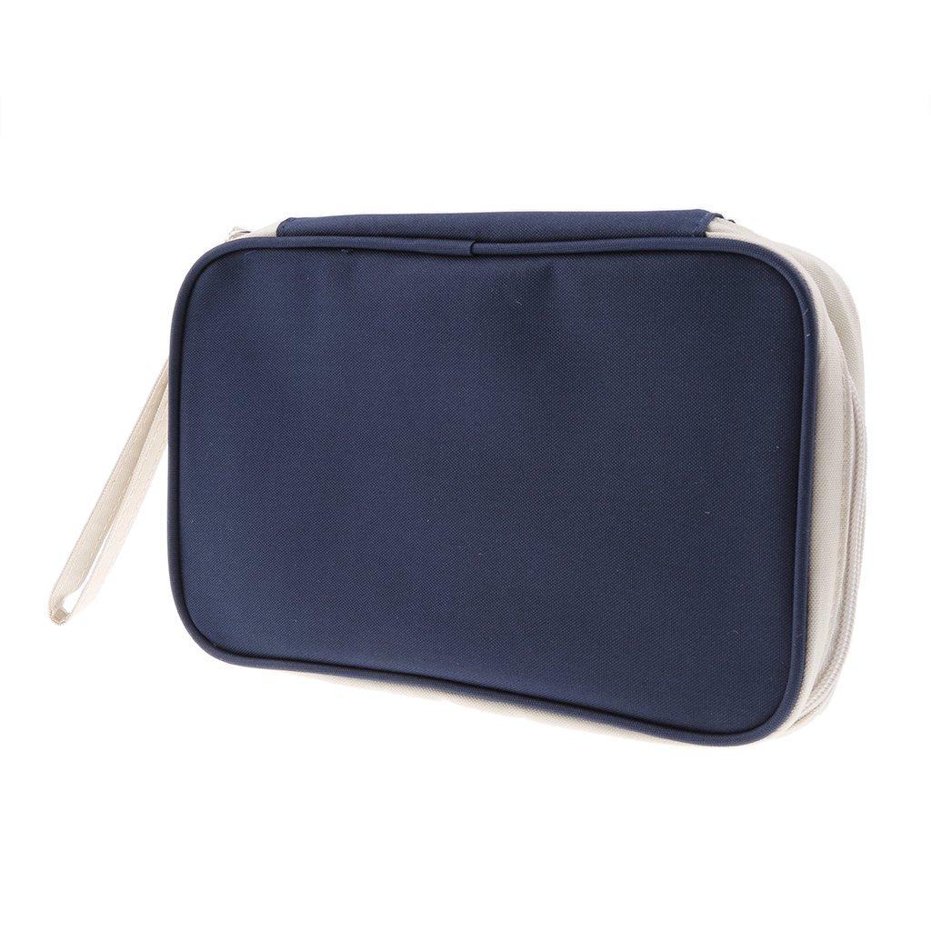 Homyl Credit ID Card Cash Holder Travel Passport Organizer Wallet Purse Deep Blue 23cm x 13.5cm x 3cm