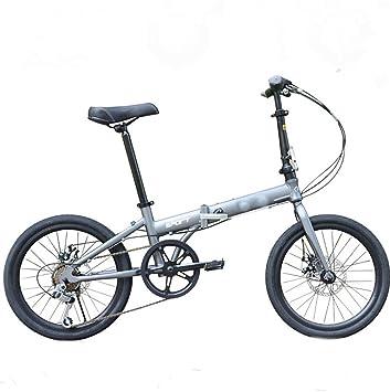 MASLEID 20 pulgadas bicicletas plegables aluminio Hombres y mujeres bicicleta de montaña , grey