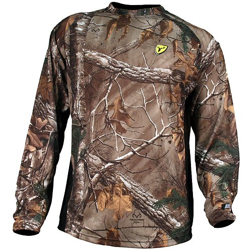 Robinson Scent Blocker 8th Layer Long Sleeve Polyester Shirt with S3 Silver, APX, 2XL