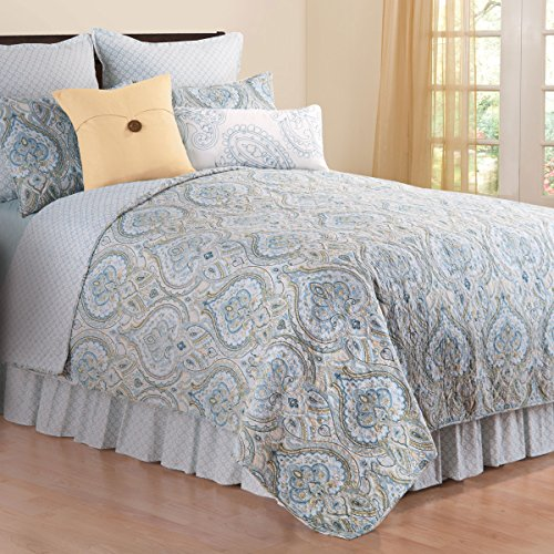 Amherst Blue Full/Queen 3 Piece Quilt Set by C&F Home
