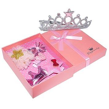 88c7ce2b52106 Oyachic Hair Clips Set Cute Barrettes Hairpins Sweet Baby Girl s Hair  Accessories Crown Headband Gift Box
