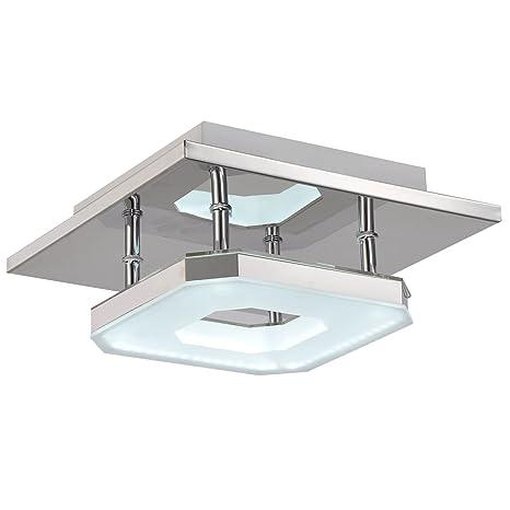 Unitary Brand plafón en metal LED 8 W pintado, metal acrílico, blanco 8.00 wattsW
