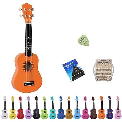 Esound 21 Pulgadas Soprano Ukelele Tilo Mini Guitarra Acústica con ...