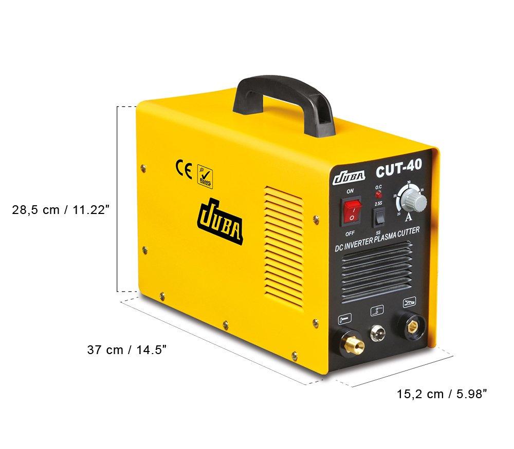Cortante de plasma CUT-40 inversor portátil, de 20 a 40 amperios + accesorios adicionales, cortador de plasma portátil de 40A: Amazon.es: Bricolaje y ...