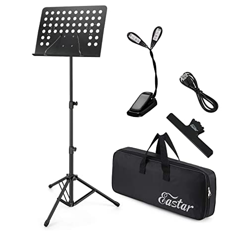 Musical Instruments & Gear Musical Instruments & Gear Trustful Black Music Stand Clip On Orchestra 1 White Led Book Reading Light Lamp