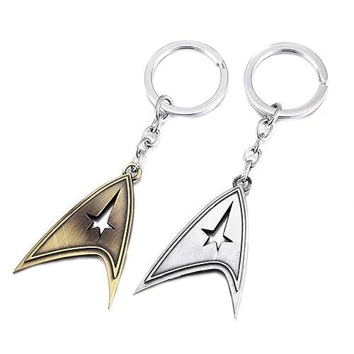 Outlander Gear Star Trek Starfleet Logo (2-Set) Keychain Includes Gift Box