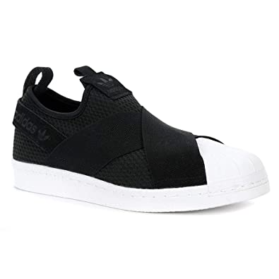 5e83311c adidas Originals Women's Superstar Slipon W Sneaker (6.5, Core Black/Core  Black/
