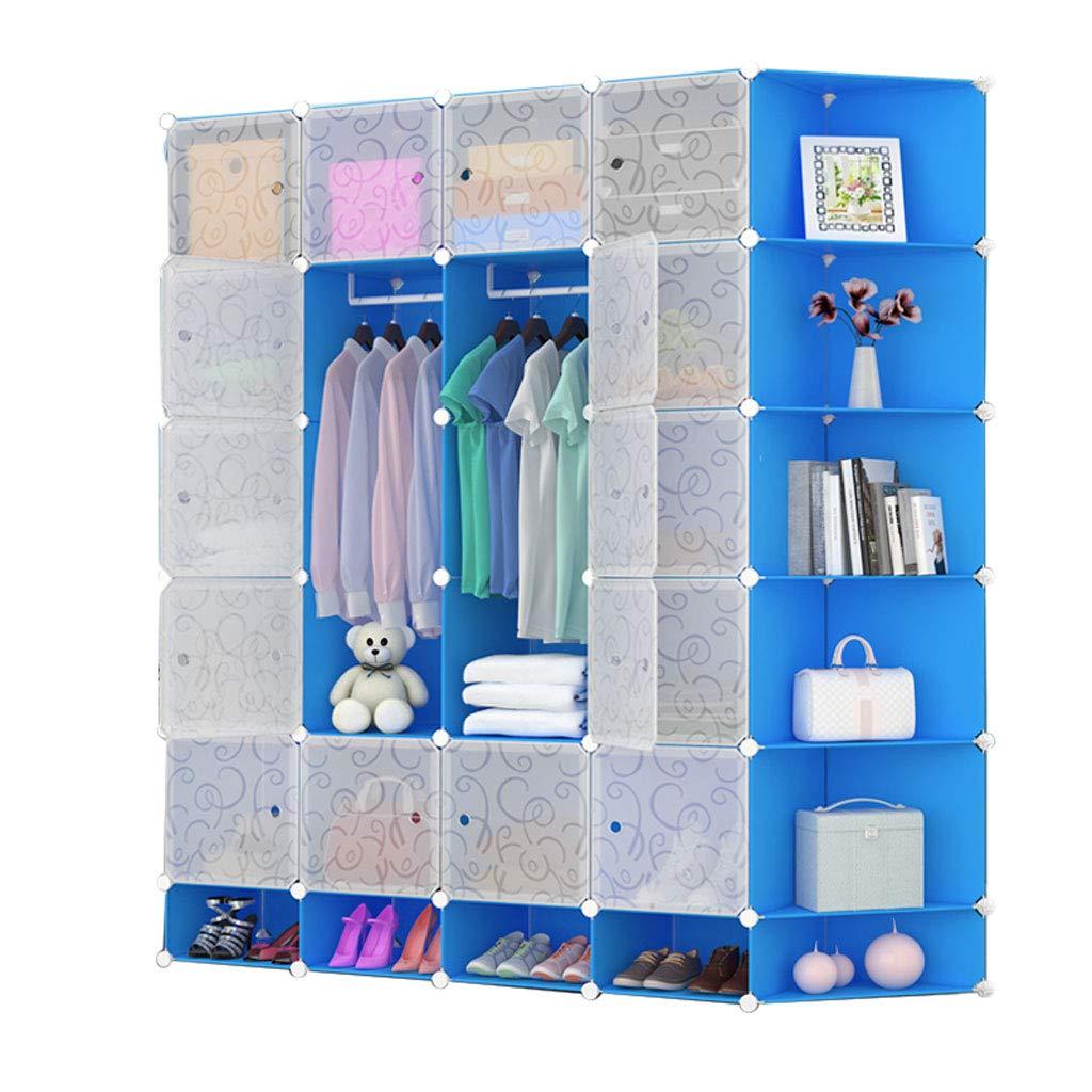 Armario de Gran Capacidad para armarios Simples Armario de casilleros Caja de Almacenamiento de 20 Cubos (Color : B)