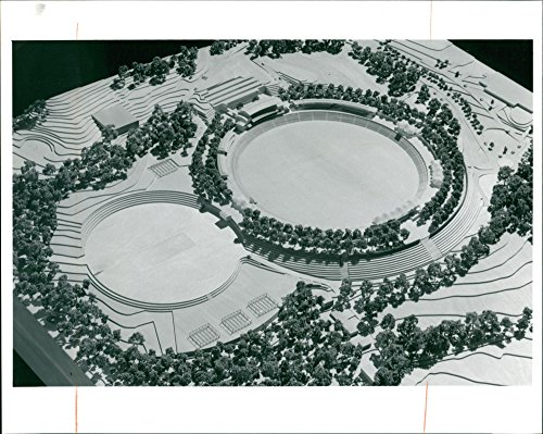 Vintage photo of An aerial map of the Bournemouth (Map Aerial Photography)