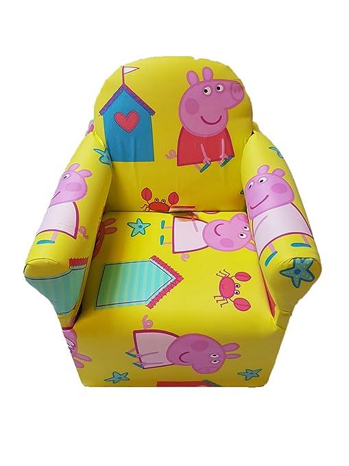 Poltroncina imbottita per bambini decorata con personaggi dei