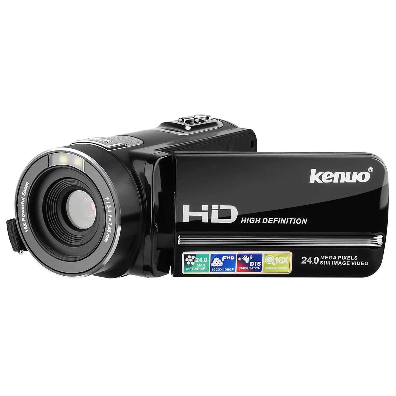 Camcorder, Kenuo 1080P 24MP HD Digital Video Camera,3.0''TFT LCD Stabilization 270 Degree Rotation Screen Camera Bag Lithium Battery (US-301A) 3.0' ' TFT LCD Stabilization 270 Degree Rotation Screen Camera Bag Lithium Battery (US-301A)