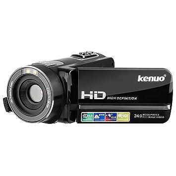 amazon kenuo ビデオカメラ 1080p hd ポータブルビデオカメラ 2400万